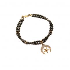 Crescent & Star Beaded Bracelet