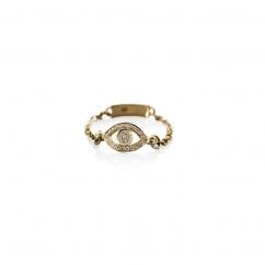 Diamond Gold Eye Ring