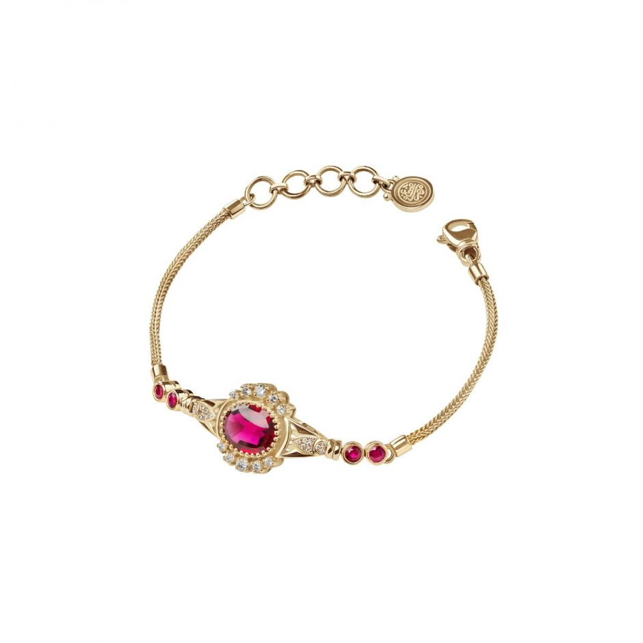 Ruby Lotus Bracelet