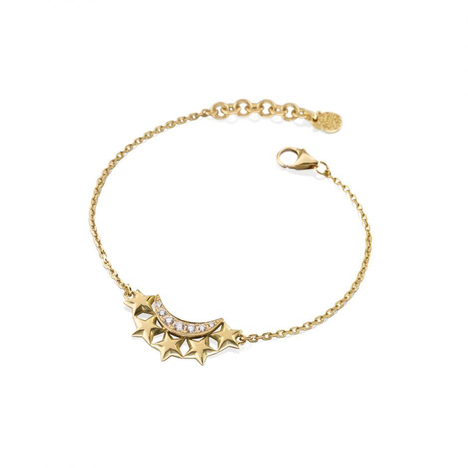 Diamond Moon-Star Bracelet