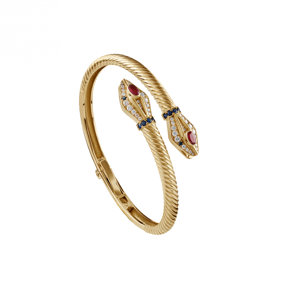 The Gold Snake Bangle