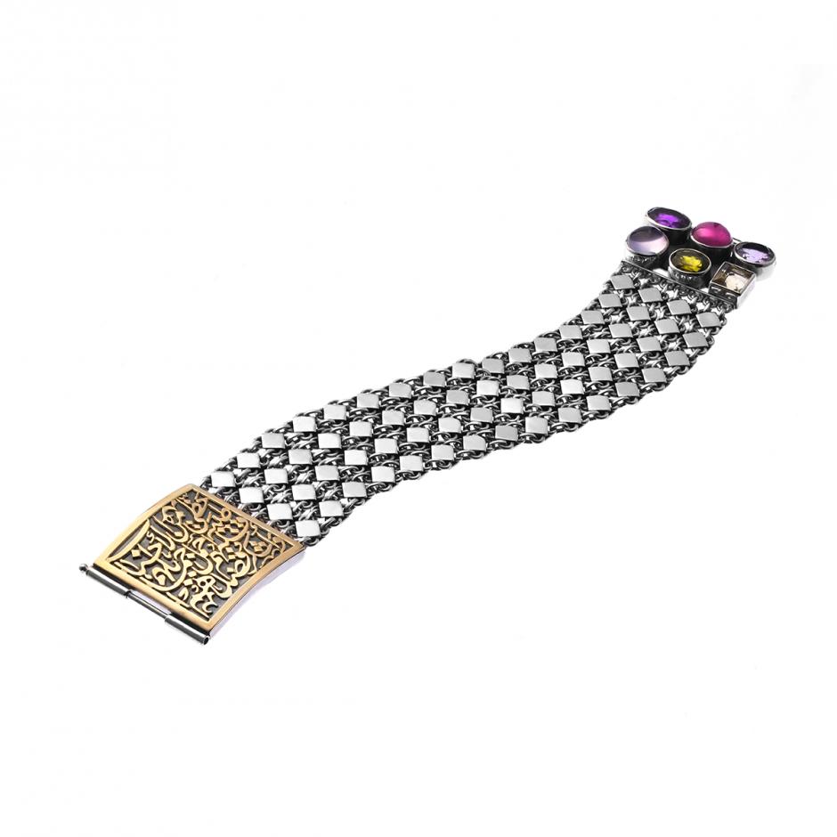Stone Calligraphy Bracelet