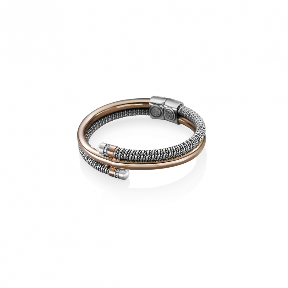 Rose Gold Coiled Bracelet