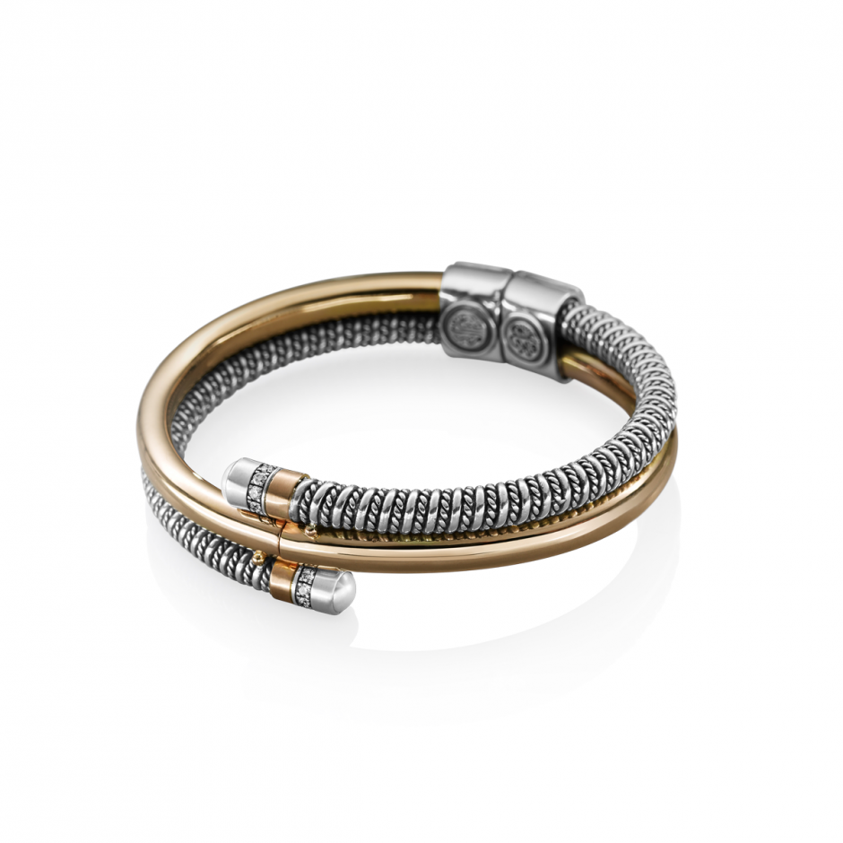 Gold Coiled Bracelet