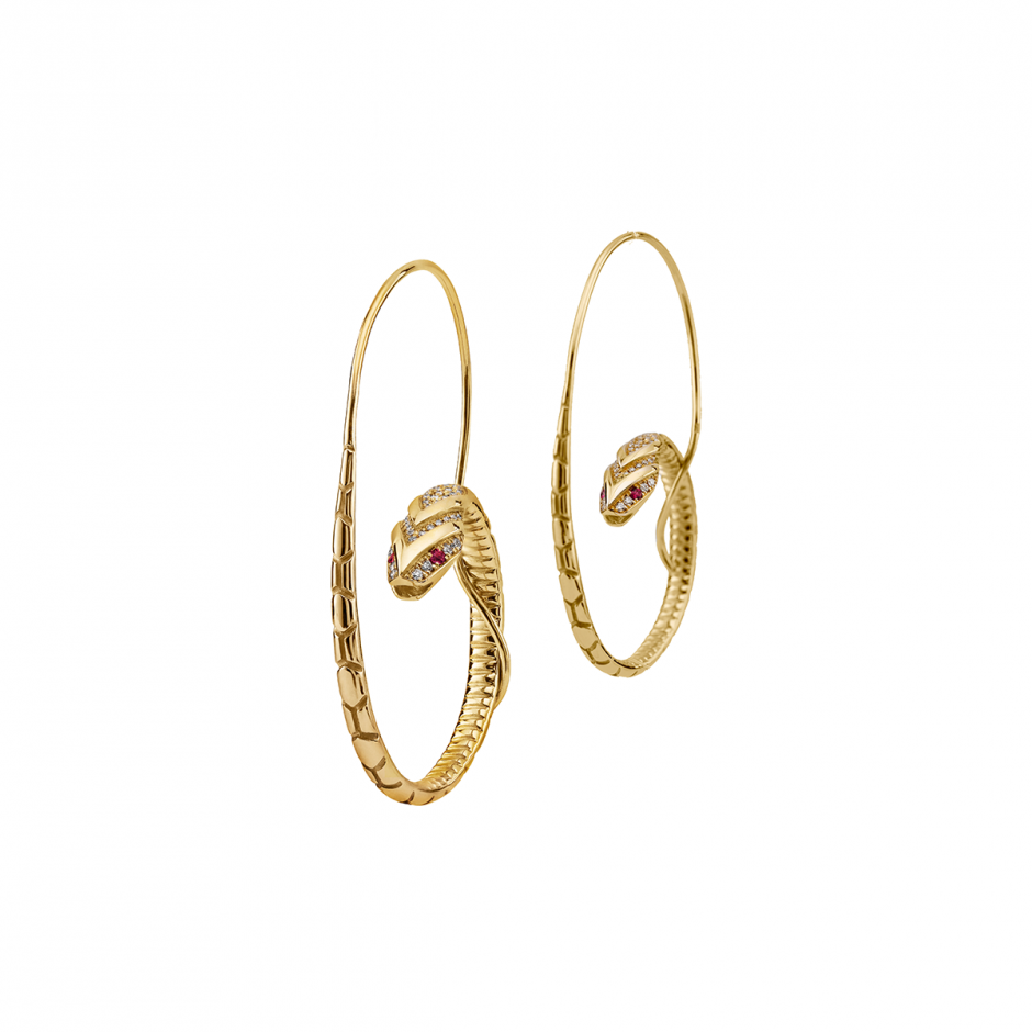 The Snake Hoop Earrings