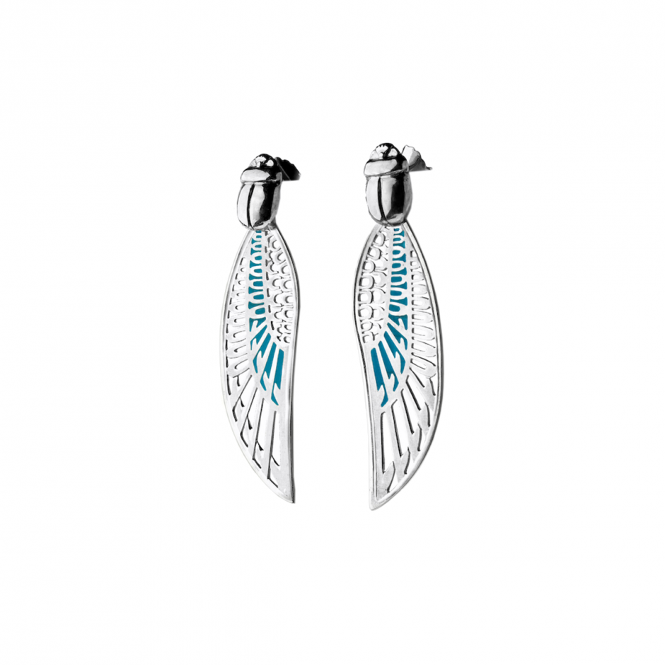 Silver Winged Earrings