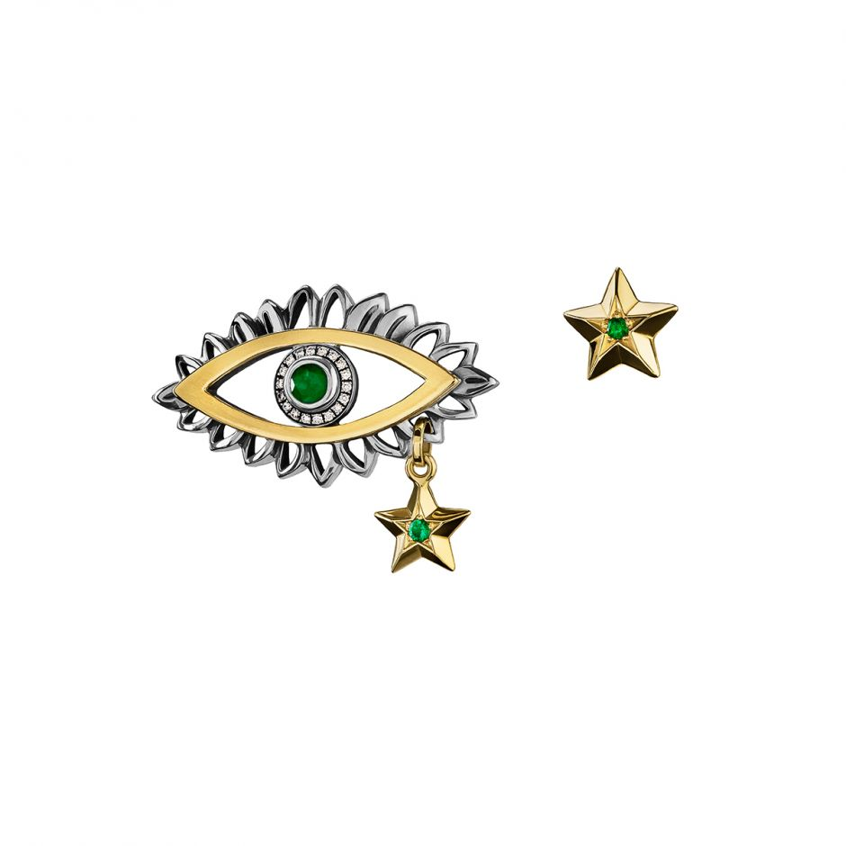 Eye & Star Earrings