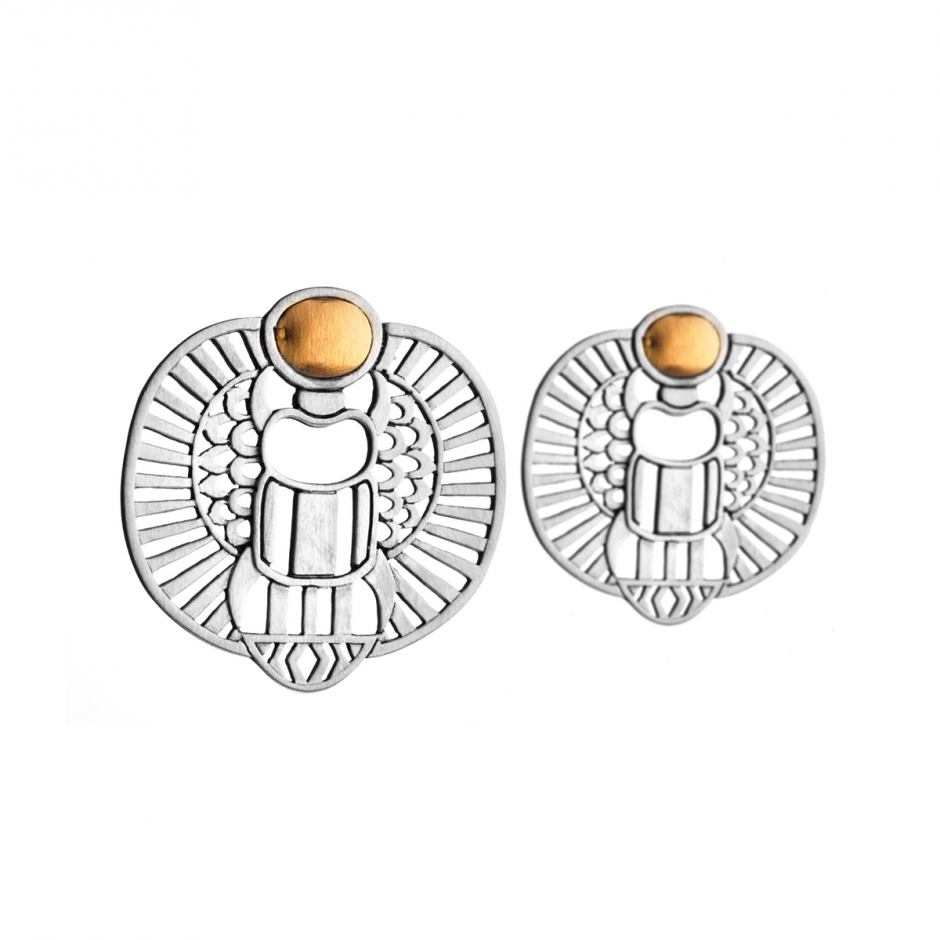 Abstract Winged Scarab Earrings