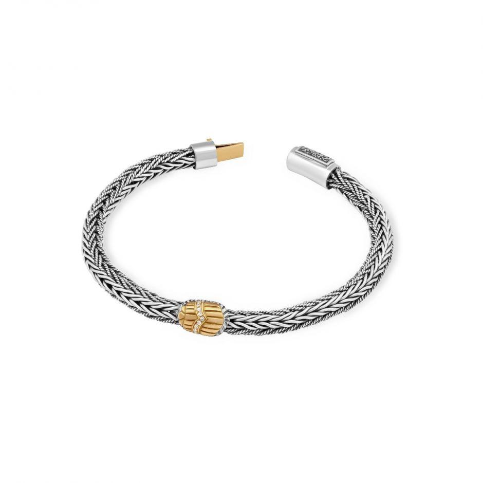 Braided Scarab Bracelet