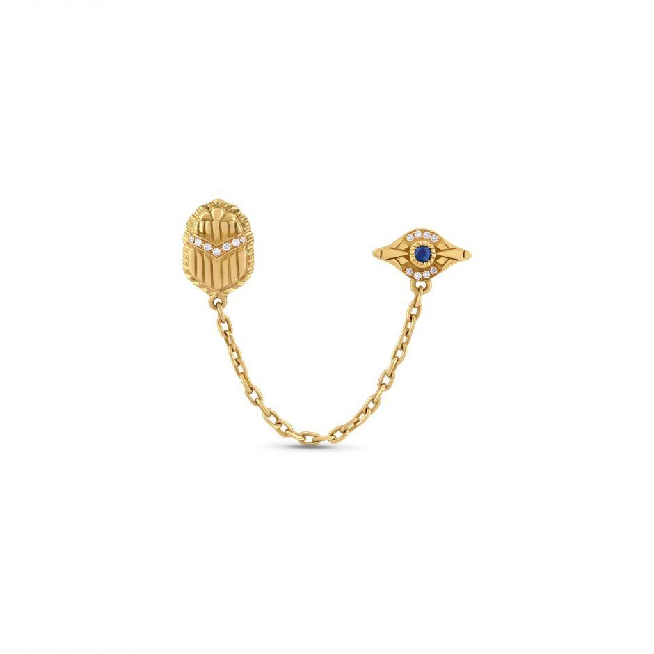 Multi-pierce Chain Earring