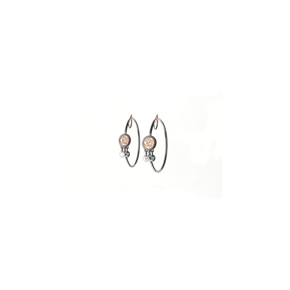 Calligraphy Hoop Earrings