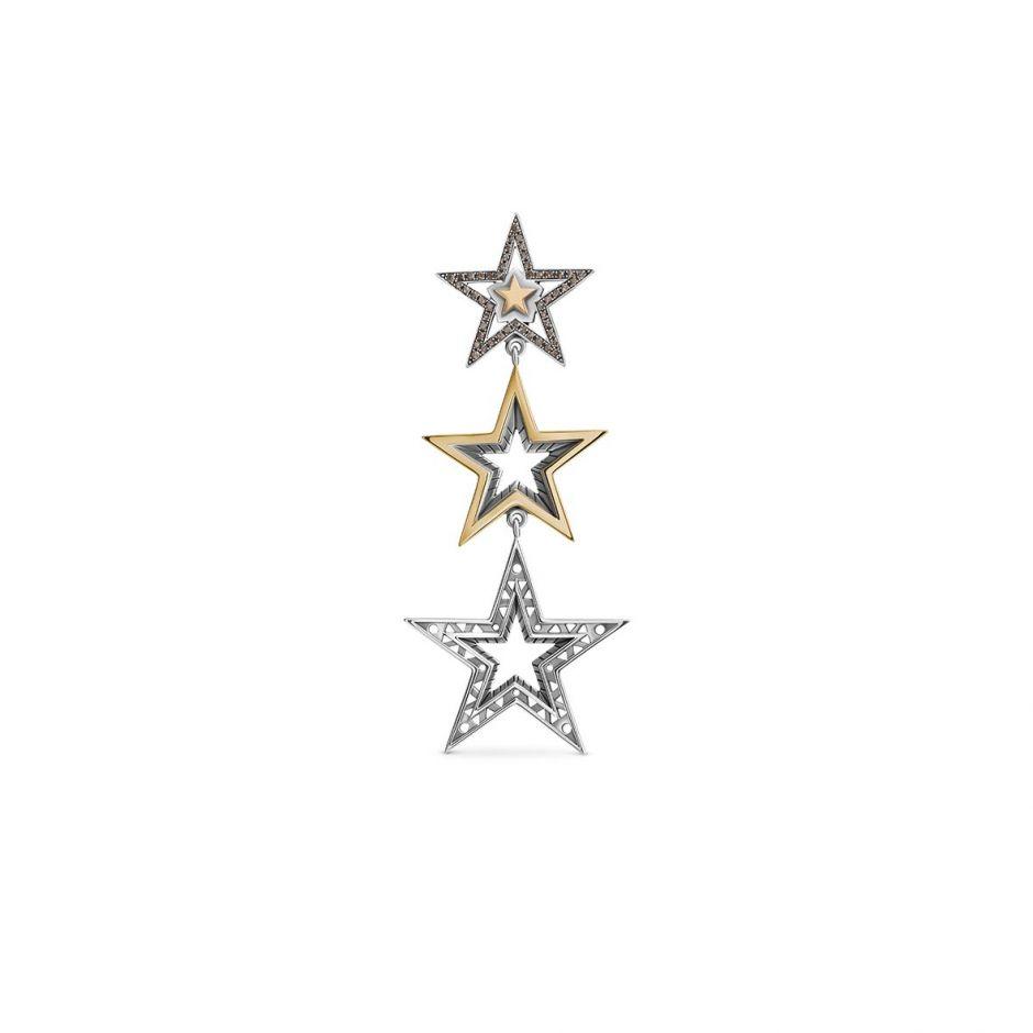 3-Star Earring