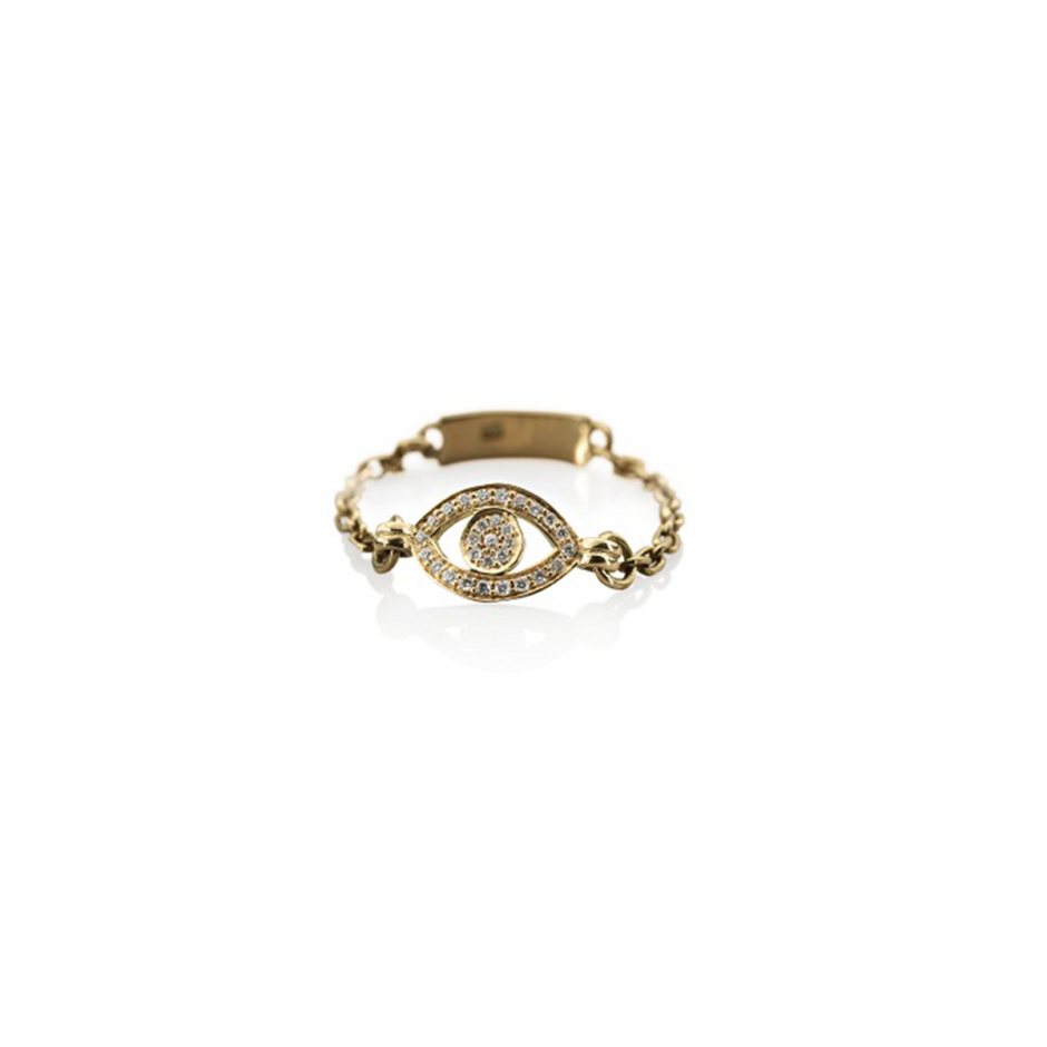 Diamond Gold Eye Ring