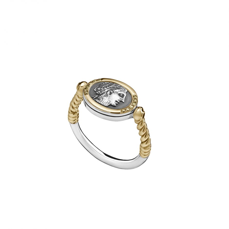 Coiled Coin Ring