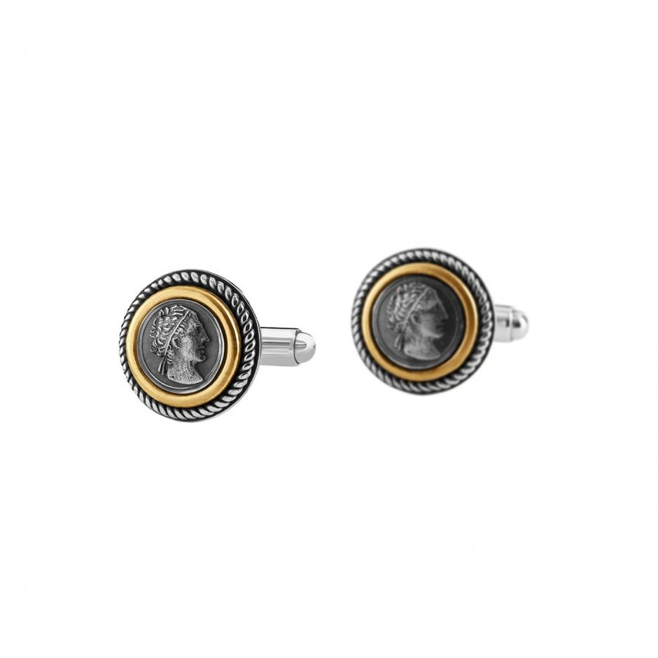Greek Coin Cufflinks