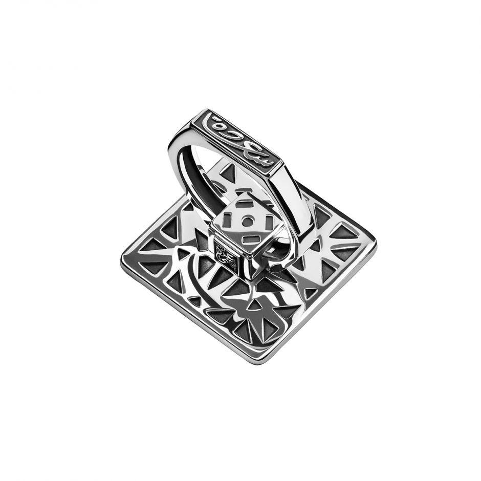 Silver Motif Mobile Ring