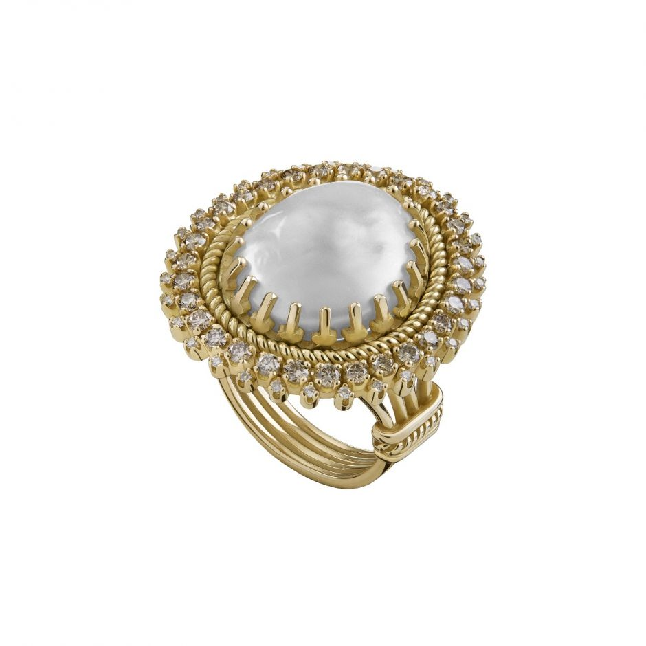 Moonlight Pearl Ring